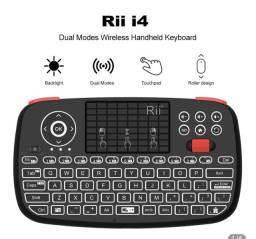 Teclado mini com TouchPad por bluetooth ou 2,4GHz Rii i4