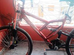 Bike aro 26 Vermelha,  novinha  650 R$