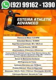 Esteira Super Luxo Athletic Advanced 16km/h + Inclinação Eletrônica + Sensor de Pulso