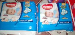 2 pacotes Huggies 24 unidades cada