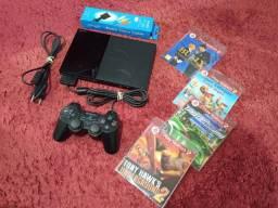 PlayStation 2 slim destravado.