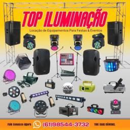 Aluguel de som, iluminação, jogos de Luz para festas e eventos