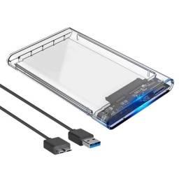 Case Gaveta Hd Externo Usb 3.0 Para Hd Notebook Ssd 2.5'' Disco Sólido