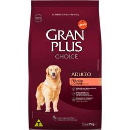 Promoção!! Ração GranPlus Choice Frango e Carne para Cães Adultos - 15Kg
