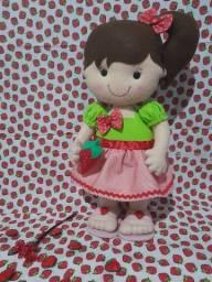 Título do anúncio: Boneca moranguinho de feltro