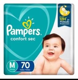Fralda Pampers confort sec - Tamanho M