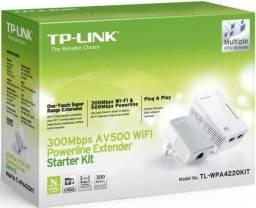Novo - Kit Powerline Av500 Wireless (Internet pela Rede Elétrica)