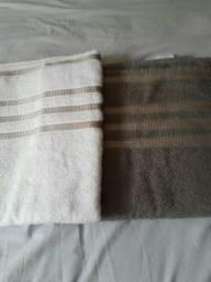 2 toalhas de banho com fio penteado e 100%algodão