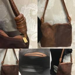 Bolsa couro marrom,Corello,linda,estilosa,seminova