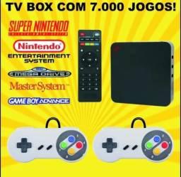 Super Game Box - Emulador Retro Para Tv Snes Ps1 Atari +64gb