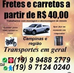 Carretos e fretes Urgentes em Campinas e região