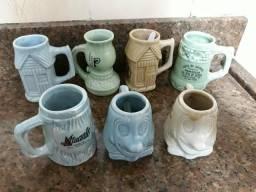 Sao 7 Miniaturas antigas de porcelanas