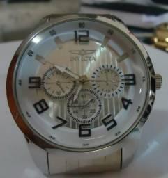 492db87e72c Relógio Masculino Invicta Série Prata Boss Scuba Pulseira Série Prata