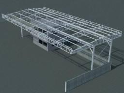 Projeto de estruturas metálicas - Galpões Mezaninos escadas coberturas residências telhado