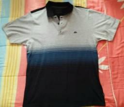 5bebdfb8232d0 Camisa Polo Quiksilver Original Tamanho M cinza