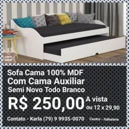 Sofa Cama 100% MDF branco