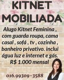 Kitnet mobiliada feminina