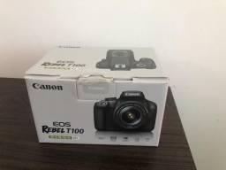 Câmera Canon semiprofissional EOS REBEL T100