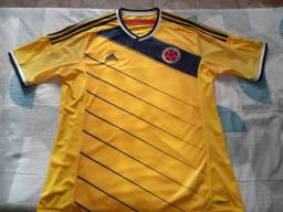 Camisa Colômbia 2014 Tam. GG