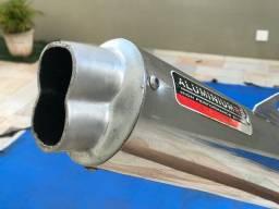 Escapamento Honda XR200 Aluminium RS Oval boca 8 Roncar