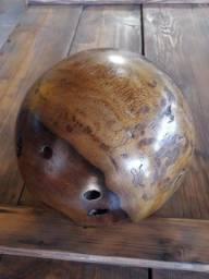 Esfera de madeira de lei jacarandá raiz maciça