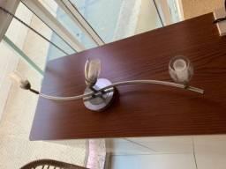 Luminária/spot de teto aço escovado 3 lâmpadas