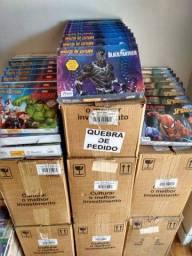 Estoque de livros Marvel e Disney