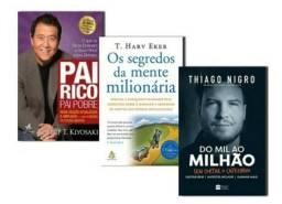 Kit - Pai rico Pai pobre, Os segredos da mente milionária e Do Mil ao milhão.