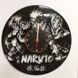 Relógio de parede, Naruto, em vinil