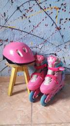 Kit patins e capacete