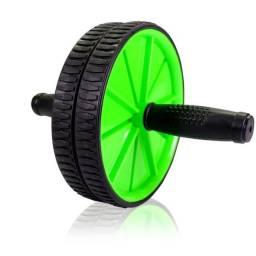 Roda Exercício Abdominal Lombar Exercise AbWheel Treine 5 Grupos Musculares
