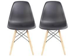 Título do anúncio: Kit  de Cadeiras com 2 unidades Pé Palito Assento Preto<br><br>