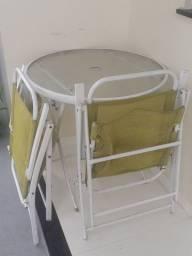 Negociando mesa de vidro de sol 2 cadeiras