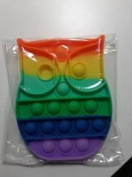 Brinquedo Sensorial e Alivio de Stress Toy Push Pop it Bolhas