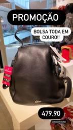 PROMOÇÃO BOLSA/mochila couro CS CLUB BY CARMEN STEFFENS
