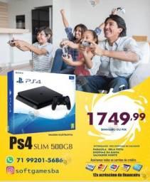 Título do anúncio: PS4 slim 500GB aceito cartão com garantia loja física