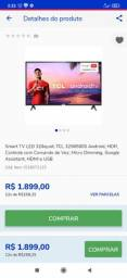 Título do anúncio: Vendo tv TCL na caixa