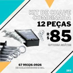 Kit de Chaves Combinadas com 12 Peças (entrega grátis)