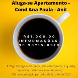 U- Condominio Ana Paula Anil Próx a Faculdade Cest