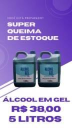 Título do anúncio: Álcool em gel 70% - 5 Litros