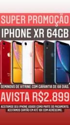 iPhone XR vitrine 64GB C/garantia e carregador