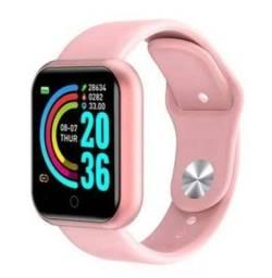 SmartWatch relógio inteligente D20 pro rosa