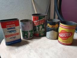 antigas latas decoração garagem