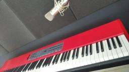 Vendo piano stage kurzawell só 88 x vendo  ou troco por outro teclado