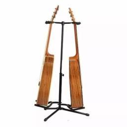 Pedestal Suporte 2 Instrumentos Baixo Guitarra Violão (Novos), até dois instrumentos