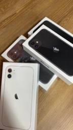 IPHONE 11 64GB WHITE & BLACK CAIXA LACRADA NF DE COMPRA !!!