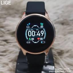 Relógio digital smartwatch original Lige diferenciado