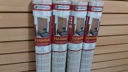 Kit de 4 Persiana Bambu Roman Shade com Bandô 100x 160 Cm Neve