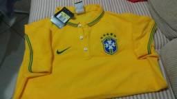 Camisa polo manga curta nike league cbf