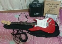 Vendo guitarra semi-usada e amplificador